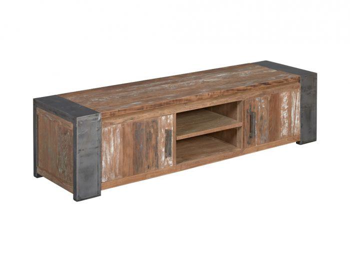 Industrieel tv meubel van staal en hout te koop dehands be