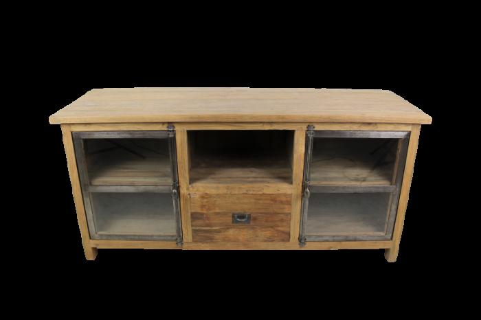 Tv Meubel Teakhout : Tv meubel dingklik teak metaal miltonhouse