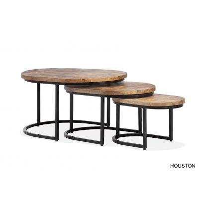 Houston ovale salontafelset
