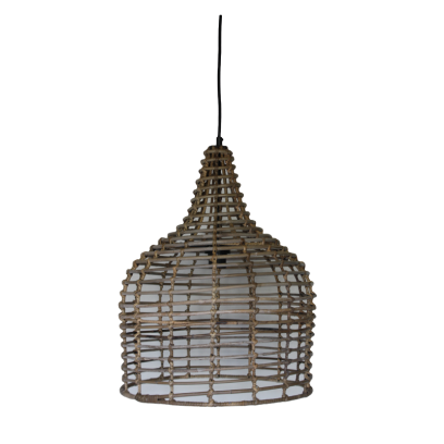 Hanglamp Koboo rotan flesvorm