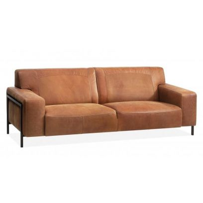 Denim 1,5 zits (loveseat) leer