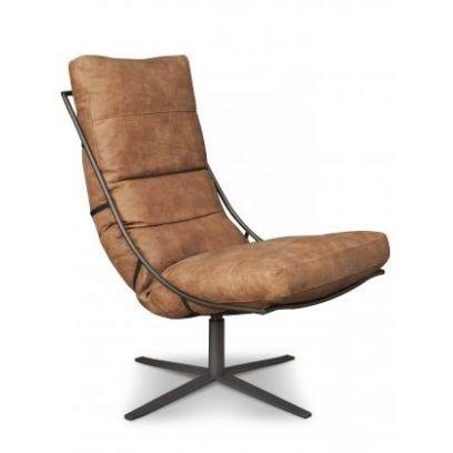 Brutus fauteuil leer - Het Anker