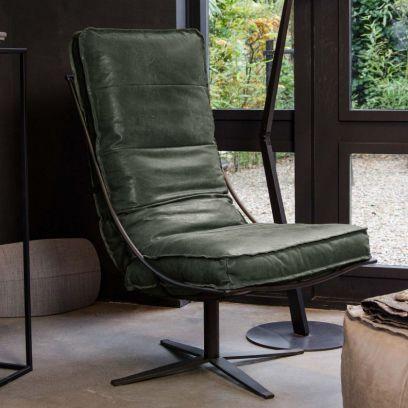 Brutus fauteuil darkgreen - Shabbies Amsterdam