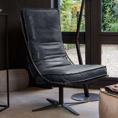 Brutus fauteuil superblack - Shabbies Amsterdam