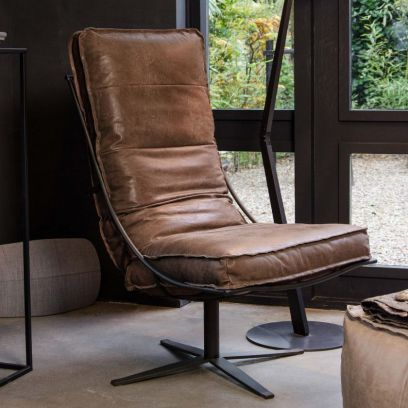Brutus fauteuil tabac - Shabbies Amsterdam