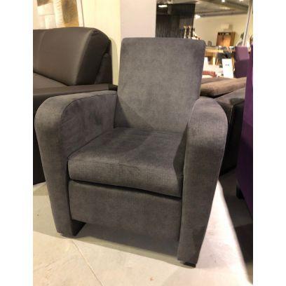 Fauteuil Bella stof grijs-showroommodel alleen afhaal