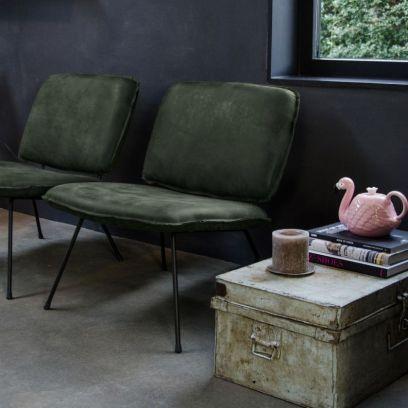 Caramba fauteuil darkgreen - Shabbies Amsterdam