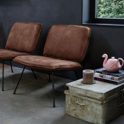 Caramba fauteuil tabac - Shabbies Amsterdam