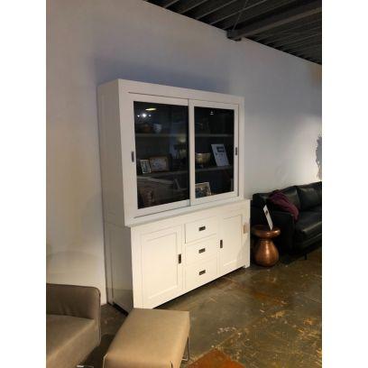 Square Glaskast 4 deurs 3 laden