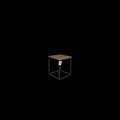 Metaalframe kruk/bijzettafel