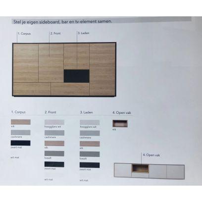Kyara TV dressoir C0056A blank eiken