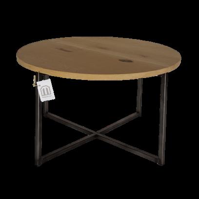 Metaalframe salontafel rond