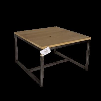 Metaalframe salontafel vierkant