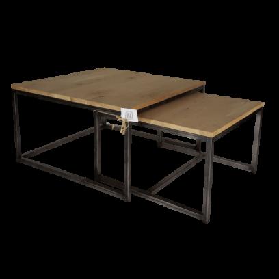 Metaalframe salontafel set
