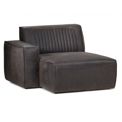 Valor chaise longue arm links leer