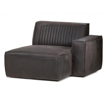 Valor chaise longue arm rechts leer